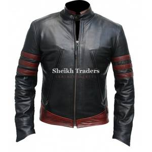 Wholesale sheep leather jacket: X-Men Real Leather Jacket for Men