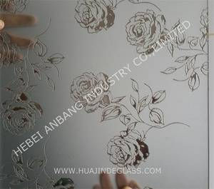 Wholesale etched glass: Acid Etch Glass
