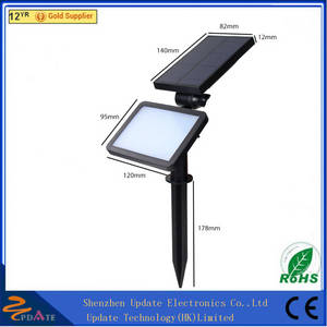 Wholesale led spot lamp: CE RoHS ABS 48 LED Solar Powered Spot Light Outdoor Wall Lamp for Garden