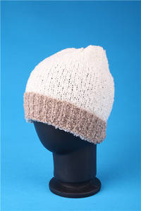 Wholesale winter hat: Hot Selling Winter Warm Outdoor Knitted Flanging Brocade Hat Manufacturer