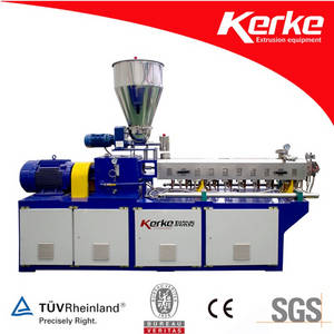 Wholesale color masterbatch extruder: Color Masterbatch Twin Screw Extruder with Water Cooling Strand Cutting System