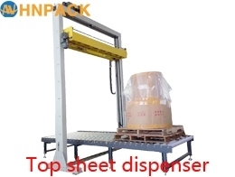 Wholesale rotary arm stretch wrapper: hennopack in-line Pallet Top Sheet Dispenser