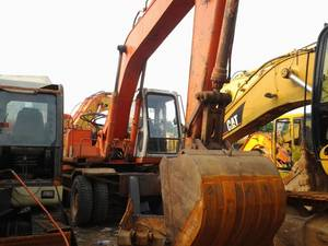Wholesale used tadano crane: Used Hitachi Wheel Excavator Machine Ex160wd of Engineering On Sale