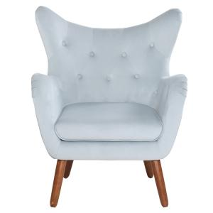 Wholesale leisure chair: High Back Leisure Chair Wooden KD Leg Tufted Back VS 6310