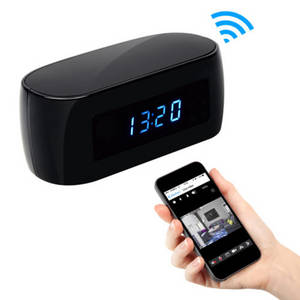 Wholesale wifi phone: Clock Hidden Camera:1080P Full HD,P2P/WiFi,Night Vision,Controlled and Viewed by Cell Phones