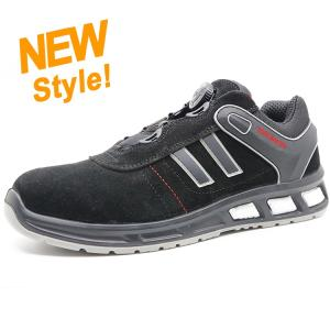 Wholesale leather shoes: 2019 New Design Fast Loosen Lace Suede Leather Fashion Sport Safety Shoes