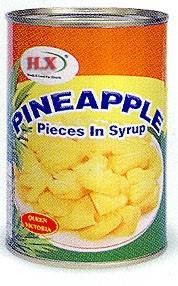 Wholesale snack: Pieces Pineapple Sweet (Queen/ Cayenne) in Syrup