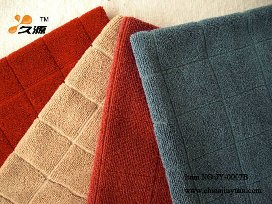 window treatments: Sell Microfiber Weft-Knitted Big Chess Towel-007B