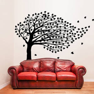 Wholesale arts: Vinyl Wall Decal Tree with Branches & Falling Leafs / Nature Birds Art Decor Home Sticker