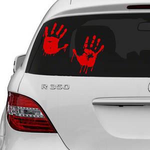 Wholesale design: Vinyl Wall Decal Red Bloody Hands Design / Blood Vampire Hand Art Decor Sticker / Funny Walking Dead