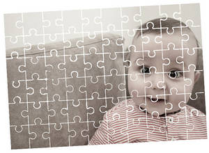 Wholesale shipping gift: Custom Personalized Puzzle Pieces / Rectangular Puzzles Photo Transfer / Family Game