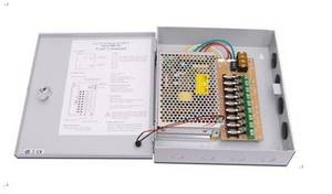 Wholesale CCTV Accessories: 9 Channel Output CCTV Surveillance Power Supply