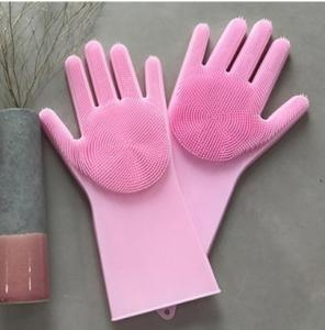 Wholesale dish sponge: Magic Scrubber Slilicone Glove