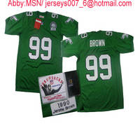 Buy  Philadelphia Eagles Jerome Brown Authentic Green Throwback Jersey