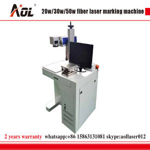 Wholesale 20w 30w fiber laser: AOL 20W 30W 50W Fiber Laser Marking Machine