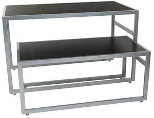 Wholesale powder coat wood grain: Nesting Table with Steel Frame