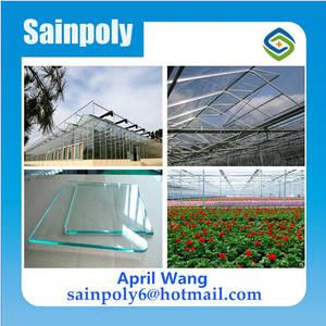 Wholesale greenhouse sunlight sheet: Low Cost Glass Agricultural Greenhouse