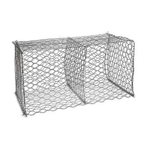 Wholesale metal perforated screen: 1x1x2m PVC Coated Gabion Wall Cages Baskets for Erosion Control