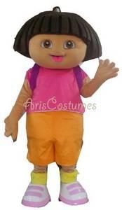 Wholesale Party Costumes: Deluxe Dora Mascot Costume Party Costumes Cartoon Mascot