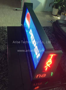 Wholesale banners: Double Sided P5 Taxi Top Advertising Display P4 Taxi LED Banner Signs P5 TAXI LED Display