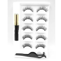 Wholesale Luxury Styles Latest Natural Soft Lashes Faux Mink Material Handmade High Quality Magnetic