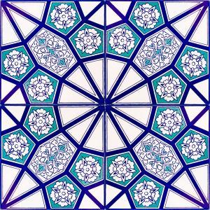 Wholesale pattern tiles: AC-3 A Geometric Blue Pattern Ceramic Tile