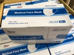 Wholesale disposable meltblown fabric: Taiwan Manufactured Disposable 3-PLY Face Masks - Sky Blue - 50/Box