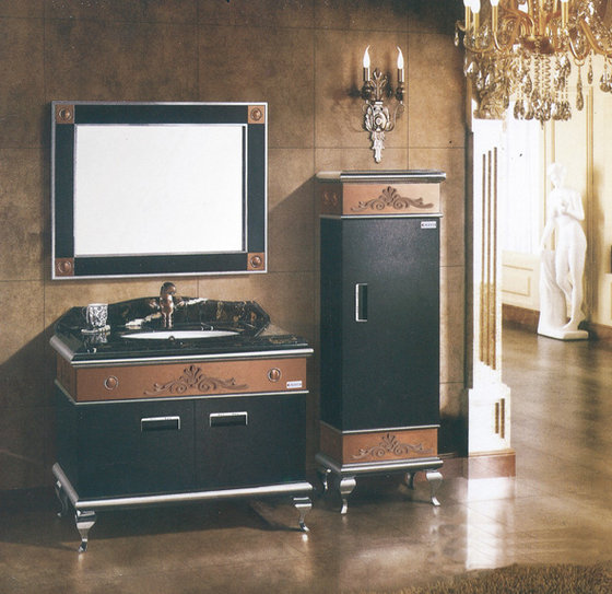 European Style Bathroom Vanity with Marble Countertop image