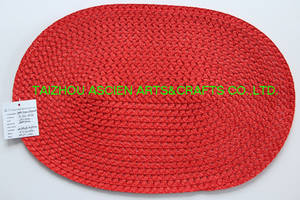 Wholesale round placemat: Dining Table Placemats Round PP Placemats