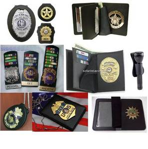 Wholesale leather credit card wallet: Leather Badge Holder & Police Badge Holder Wellet
