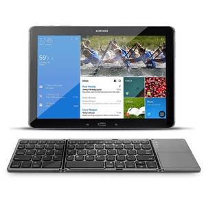 Wholesale android 4.0 tablet pc: Touchpad Folding Keyboard Roll Up PentaGraph Keys with Kickstand
