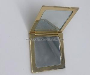 Wholesale pearl powder: Suqare Metal Compact  OEM Metal Compact Box   Custom Metal Compact Box   Metal Compact Box