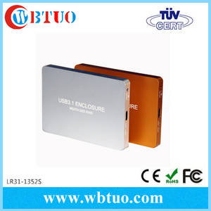 Wholesale hdd enclosure: External Portable USB3.1 USB-C TO 2Ports MSATA Raid HDD SSD Enclosure