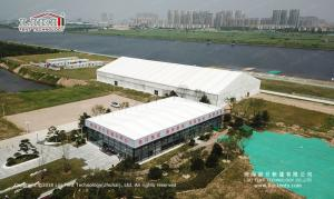 Wholesale fabric air duct: 10mX25m Transparent Tent for Wedding Show in China