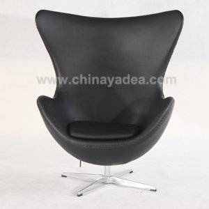 Wholesale egg chairs china: Highly Real Leather Aniline Leather Arne Jacobsen Egg Chair