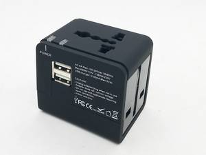 Wholesale adaptor charger: Universal Travel Adaptor with One or Dual Charger