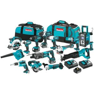 Wholesale drilling tools: Makitas LXT1500 18-Volt LXT Lithium-Ion Cordless 15-Piece Combo Kit / Power Tool / Cordless Drill