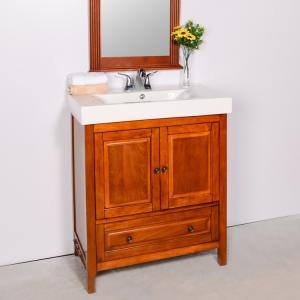 Wholesale vanity bathroom: Asia Style Natural Color Solid Wood +MDF Bathroom Vanity Cabinet