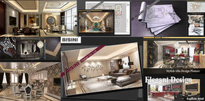Wholesale Other Real Estate: Luxury Villa House Interior Decoration Design 3D Rendering Drawing