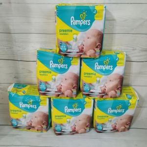 Wholesale disposable baby: Pampers Swaddlers Disposable Baby Diapers Size Preemie 120 Counts
