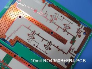 Wholesale fr 4 sheet: 5 Layer Hybrid PCB Built On 10mil RO4350B and FR-4 with Immersion Gold for 2.4 Ghz Antenna