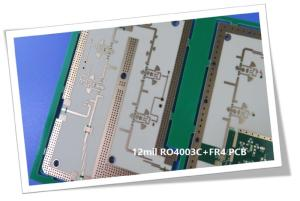 Wholesale drawing press: 6 Layer Hybrid PCB Made On 12mil 0.305mm RO4003C and FR-4 for Satellite Antenna