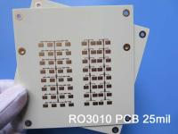 Rogers RO3010 25mil 0.635mm High Frequency PCB RF PCB for Patch Antenna for Wireless Communications