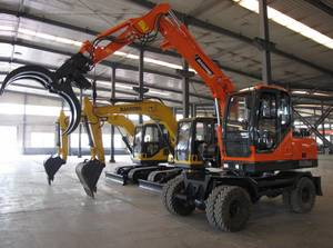 Wholesale shandong: Shandong Baoding Small Wheel Excavators with Grasper