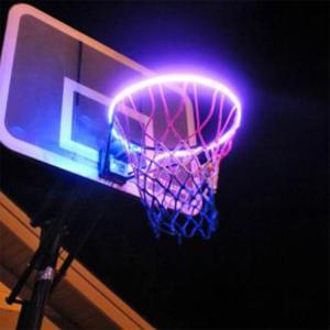 Wholesale led outdoor lighting: Factory Wholesale LED Basketball Hoop Light Solar Rim Light Swish Outdoor for Kids,Adults, Training