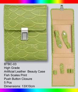 Wholesale leather: Artificial Leather Beauty Case