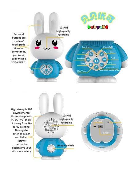 Factory Supply Cartoon Rabbit Intelligence Toy Q5