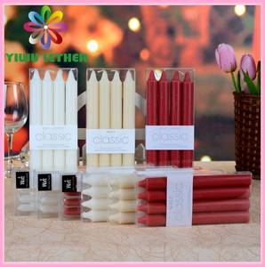 Wholesale candle stick: Plain White Ivory Red Stick Candles