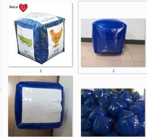 Wholesale pe valves: School Teaching Outdoor Use Giant Inflatable Dice with Pockets