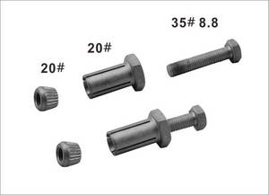 Wholesale hex bolts 12.9: M10X18X50mm Hex Anchor Bolt Grade 12.9 for Steel Construction